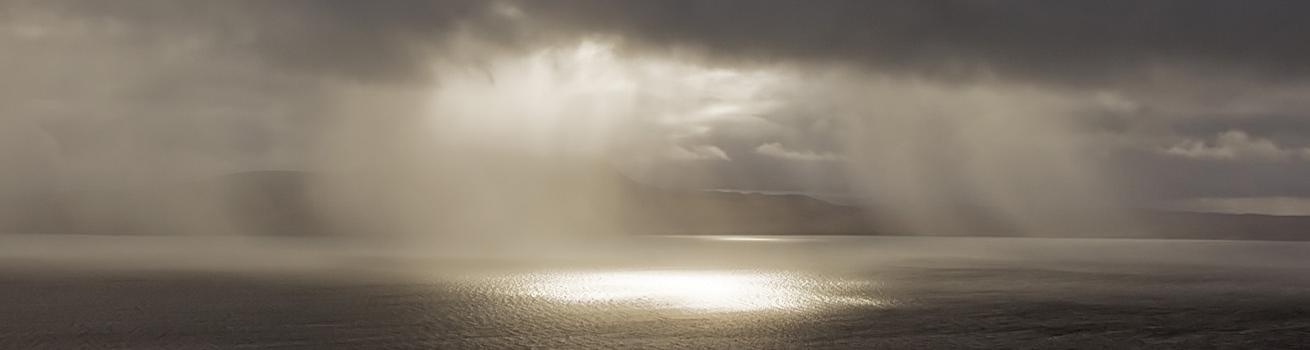 Rain on Loch Broom 1310 x 350